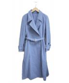 AMERI(アメリヴィンテージ)の古着「BELT FLARE LONG COAT」|ブルー