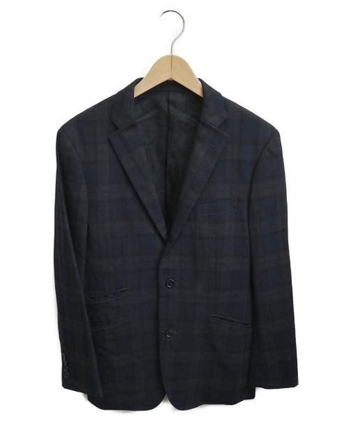 BURBERRY BLACK LABEL(バーバリーブラックレーベル)BURBERRY BLACK LABEL (バーバリーブラックレーベル) テーラードジャケット ネイビー サイズ:M チェックの古着・服飾アイテム
