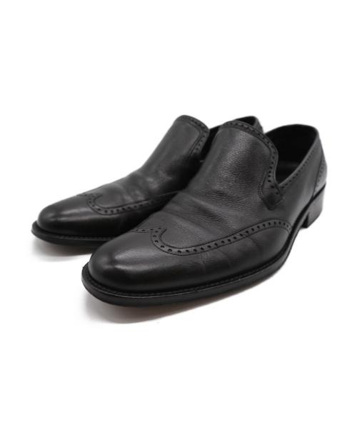 GUCCI(グッチ)GUCCI (グッチ) ウィングチップシューズ ブラック サイズ:41の古着・服飾アイテム