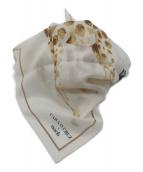 CARA O CRUZ(キャラオクルス)の古着「アニマルモチーフスカーフ」|イエロー