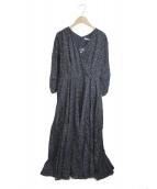MARIHA(マリハ)の古着「マドモアゼルのドレスL/S」|ミスティドッツ/ブラック