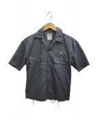 FREAKS STORE(フリークスストア)の古着「フラワースタッズワークシャツ」|グレー
