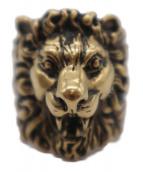 GUCCI(グッチ)の古着「ライオンモチーフリング」|ゴールド