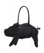 ANTEPRIMA(アンテプリマ)の古着「豚モチーフワイヤーバッグ」|ブラック