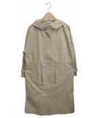 B:MING LIFE STORE(ビーミングライフストア)の古着「ツイル フーデッド コート」|ベージュ