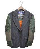 JUNYA WATANABE MAN(ジュンヤワタナベ マン)の古着「MA-1 Blazer」|グレー×カーキ