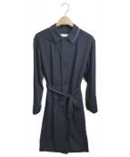 ETHOSENS(エトセンス)の古着「ローブシャツコート」|ネイビー