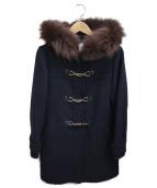 MEWS(ミューズ)の古着「フォックスファーコート」|ネイビー