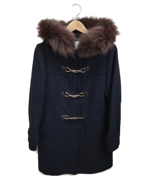 MEWS(ミューズ)MEWS (ミューズ) フォックスファーコート ネイビー サイズ:Mの古着・服飾アイテム