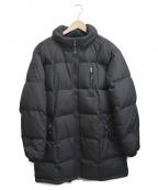 ARMANI JEANS(アルマーニジーンズ)の古着「ロゴスリーブダウンコート」|ブラック