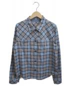 CARA O CRUZ(キャラオクルス)の古着「シャツジャケット」|ブルー