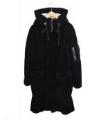 GIORGIO ARMANI(ジョルジオアルマーニ)の古着「ベロアモッズコート」|ブラック