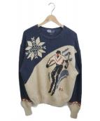 POLO RALPH LAUREN(ポロラルフローレン)の古着「[古着]スキーマンクルーネックニット」|アイボリー