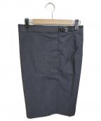 GUCCI(グッチ)の古着「キルトスカート」|グレー
