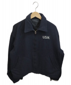 US NAVY(ユーエスネイビー)の古着「[古着]70sシービーズツアージャケット」|ブラック