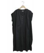 KAPITAL(キャピタル)の古着「フィッシャーマンズノースリーブワンピース」|ブラック