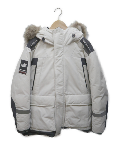 NEW BALANCE EXCESSIVE(ニューバランス)NEW BALANCE EXCESSIVE (ニューバランス) オーシャンパトロールロングダウンジャケット ホワイト サイズ:Lの古着・服飾アイテム