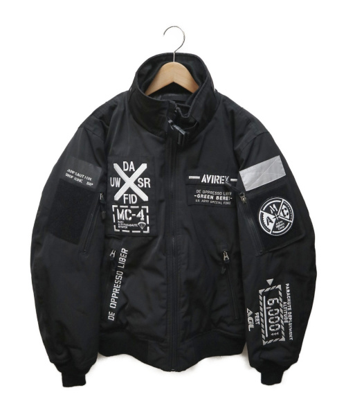 AVIREX(アヴィレックス)AVIREX (アヴィレックス) AMC MA-1 MOD フライトジャケット HALO ブラック サイズ:Lの古着・服飾アイテム