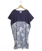SOU・SOU(ソウソウ)の古着「ブラウスワンピース」|ブルー×パープル