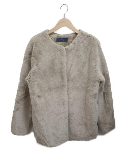 SHIPS(シップス)SHIPS (シップス) ファージャケット ベージュ サイズ:サイズ表記無しの古着・服飾アイテム