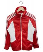 adidas(アディダス)の古着「[古着]70'Sトラックジャケット」|レッド×ホワイト