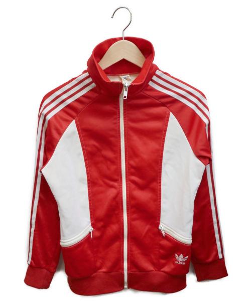adidas(アディダス)adidas (アディダス) [古着]70'Sトラックジャケット レッド×ホワイト サイズ:サイズ表記無しの古着・服飾アイテム
