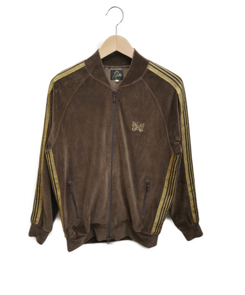 Needles(ニードルズ)Needles (ニードルズ) Rib Collar Track Jacket ブラウン サイズ:Sの古着・服飾アイテム
