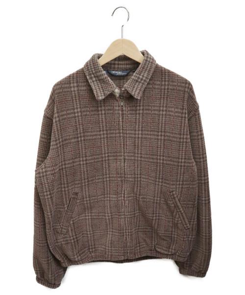 POLO RALPH LAUREN(ポロラルフローレン)POLO RALPH LAUREN (ポロラルフローレン) ジップジャケット ブラウン サイズ:Lの古着・服飾アイテム