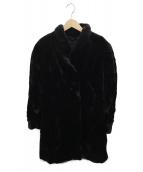 SAGA MINK(サガミンク)の古着「[古着]シェアードミンクロングコート」 ブラック