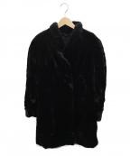SAGA MINK()の古着「[古着]シェアードミンクロングコート」|ブラック