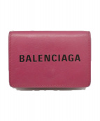 BALENCIAGA(バレンシアガ)の古着「エブリデイ ミニ ウォレット」|ピンク