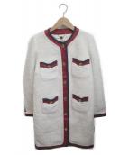 MUVEIL(ミュベール)の古着「ノーカラーコート」|アイボリー