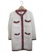 MUVEIL()の古着「ノーカラーコート」|アイボリー
