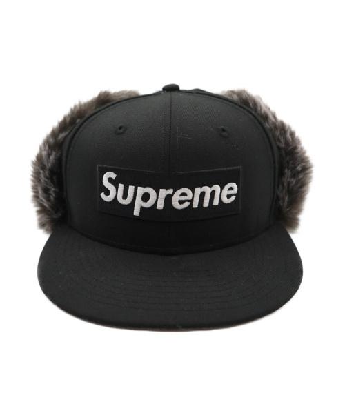 Supreme(シュプリーム)Supreme (シュプリーム) Earflap New Era cap ブラック 19AWの古着・服飾アイテム