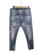 DSQUARED2(ディースクエアード)の古着「リペア加工デニムパンツ」|ブルー