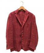 BOGLIOLI(ボリオリ)の古着「リネンジャケット」 レッド