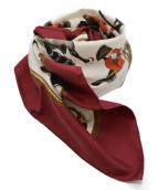 HERMES(エルメス)の古着「シルクスカーフ」 レッド×ホワイト