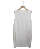 ENFOLD(エンフォルド)の古着「ノースリーブワンピース」|ホワイト