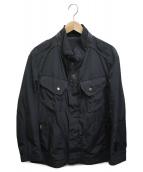 HUGO BOSS(ヒューゴボス)の古着「ナイロンモーターサイクルジャケット」|ブラック