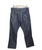 LEVIS VINTAGE CLOTHING(リーバイス ヴィンテージ クロージング)の古着「ユーズド加工デニムパンツ」 インディゴ