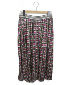 Weekend Max Mara(ウィークエンド マックスマーラ)の古着「ロングスカート」|ブラック×ピンク