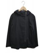 S Max Mara(エス マックスマーラ)の古着「カシミヤ混フーデッドコート」|ブラック