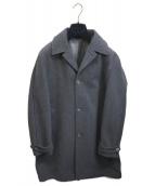 BOGLIOLI(ボリオリ)の古着「クラシックウールステンカラーコート」|グレー