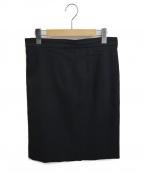 CHANEL(シャネル)の古着「ウールスカート」|ブラック