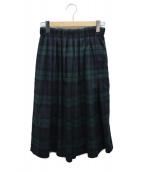 ONEIL OF DUBLIN(オニール オブ ダブリン)の古着「プリーツスカート」|グリーン