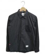 BEDWIN &THE HEARTBREAKERS(ベドウィンアンドザ ハートブレイカーズ)の古着「ドットシャツ」 ブラック×ホワイト