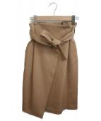 Adam et Rope(アダムエロペ)の古着「ラップスカート」|ブラウン