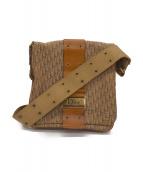 Christian Dior(クリスチャン ディオール)の古着「[OLD]フラップョルダーバッグ」|ブラウン