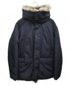 VICTORINOX(ビクトリノックス)の古着「フーデッドダウンコート」 ネイビー