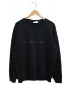 GIVENCHY(ジバンシィ)の古着「ロゴクルーネックスウェット」|ブラック
